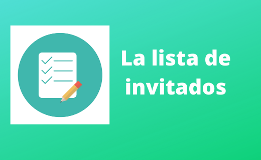 Elaborar la lista de invitados